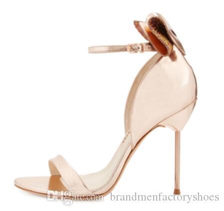 مثير المصارع الصنادل نساء حزب أحذية منمق فراشة عقدة امرأة الصنادل الجديدة الحلو أحذية عالية الكعب الزفاف الخناجر