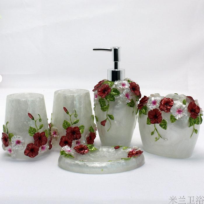 가정 수지 화장실 5 조각 세트 목욕 욕조 욕실 치과 키트를 설정
