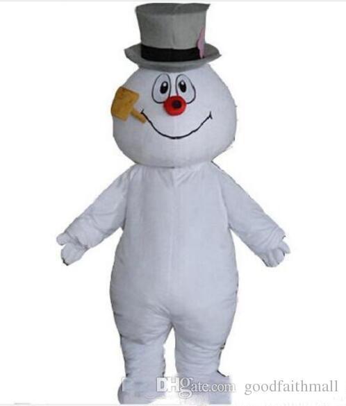 MASCOTE CIDADE de alta qualidade Gelado o Boneco de Neve MASCOTE traje anime kits mascote tema fancy dress