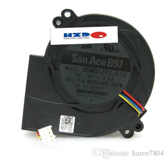 Sanyo 9.7CM 9BMB12P2K12 9733 12V 3.4A 9BMB12P2K019 9BMB12P2J619 ventilador de refrigeração