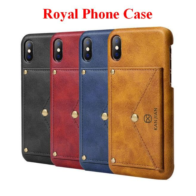 Kraliyet Cep telefonu Kılıfı Için iPhone X Cüzdan Kapak Samsung Galaxy TPU Malzeme Cep telefonu Kılıfı Desteği ZPG0065