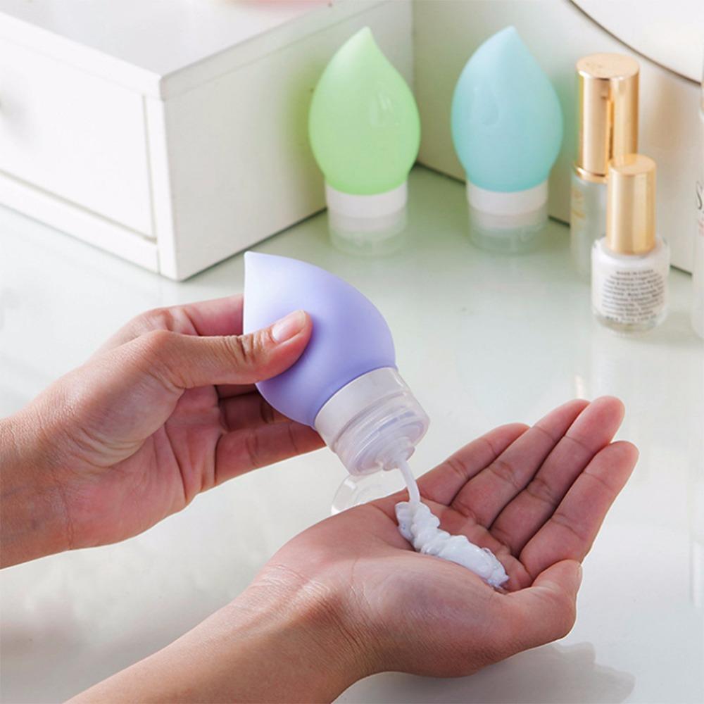 MUB - Neue Ankunft Silikon Mehrwegflaschen 75ml Portable Kleine Probenbehälter Mini Traveler Parfüm Flaschen Shampoo Bad