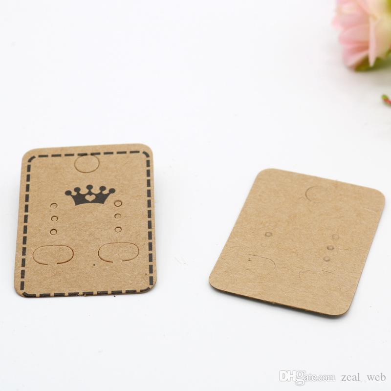 Craft Paper Earring Card Holder Earring Display Cards Earring Tag Diy Store Bulk Wholesale Brown Paper Wrapping Brown Parcel Paper From Zeal Web