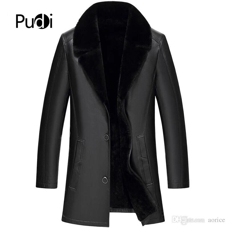 MT858 2018 Erkekler hood ile yeni moda gerçek koyun deri ceketler yaka güz kış casual dış giyim