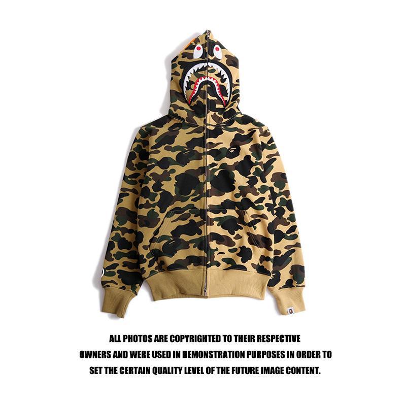 Chaquetas de diseñador para hombre Ape Hoodie con algodón Off Shark Impresión Streetwear Hombres Mujeres Vetements Sudadera White Ape Novedad Ropa barata