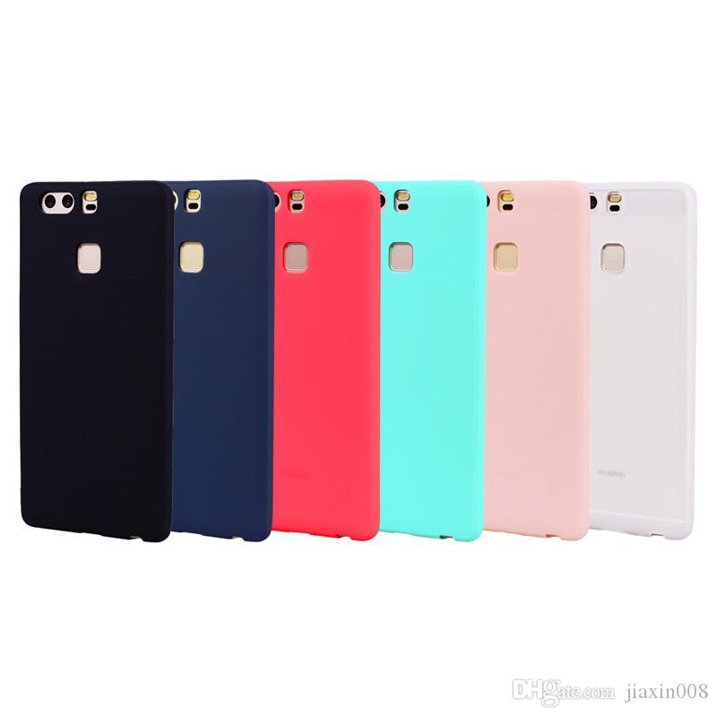 Для Huawei P9 Case задняя крышка мягкие TPU конфеты цвет серии ультратонкий дизайнер Mobie телефон Case Capinha