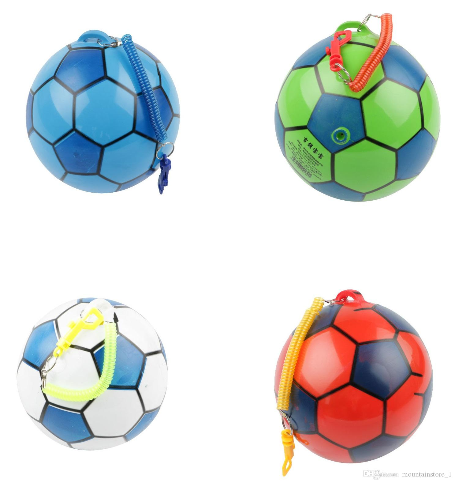 New PVC Inflatable Training Soccer with Chain Swimming Pool Football Play Water Game Balloons Beach Party Sport Kids Toys