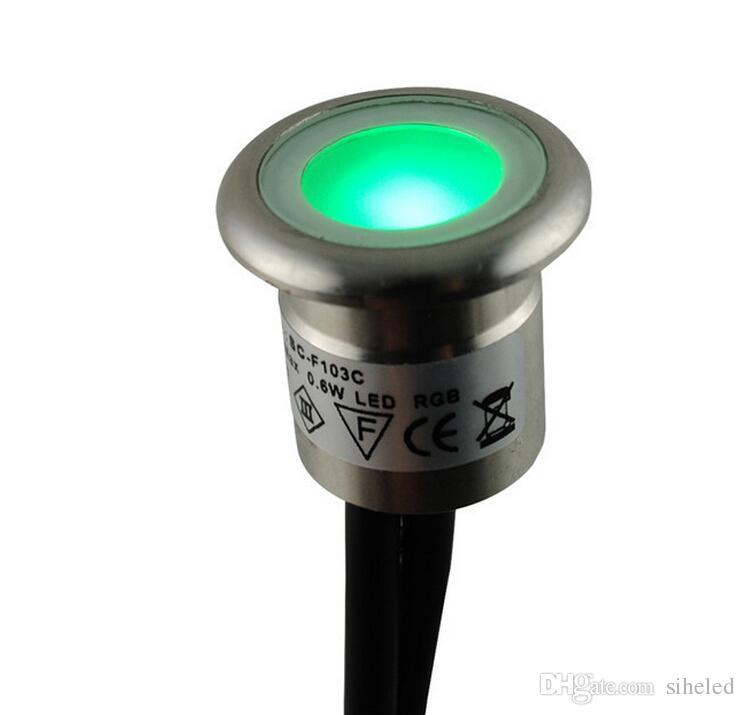 6 шт./лот LED утопленные Undergournd лампа LED освещение лампа водонепроницаемый IP67 против пыли низкого напряжения 12 В LED сад свет