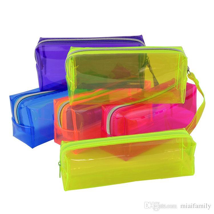 Kalem Çantaları PVC Kalem Kutusu öğrencileri kalem kutuları şeker renk öğrenci suppy malzemeleri çantası ücretsiz kargo