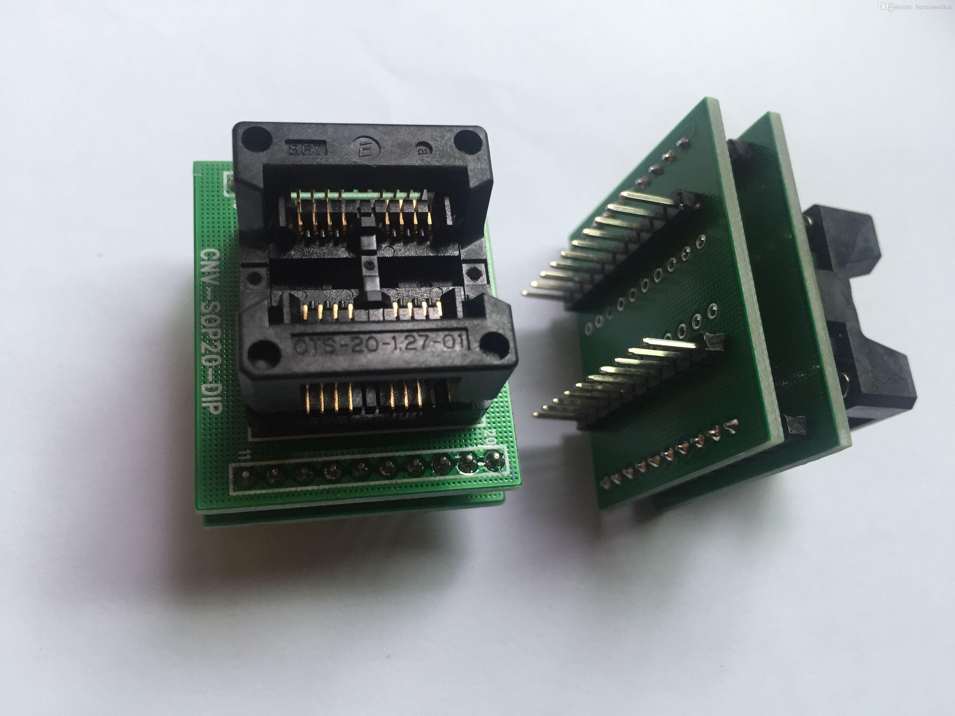 Enplas IC Test Soceket OTS-16(20M)-1.27-01 with Pcb Board SOP8 Programmer Adapter Burn in Socket