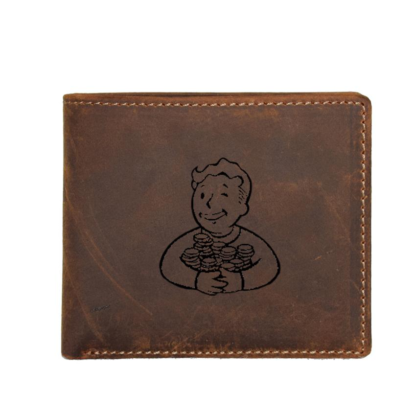 수 사용자 정의 이름 지갑 남자 게임 낙진 지갑 RFID 카드 소지자 달러 가격 작은 동전 지갑 가죽 작은 지갑