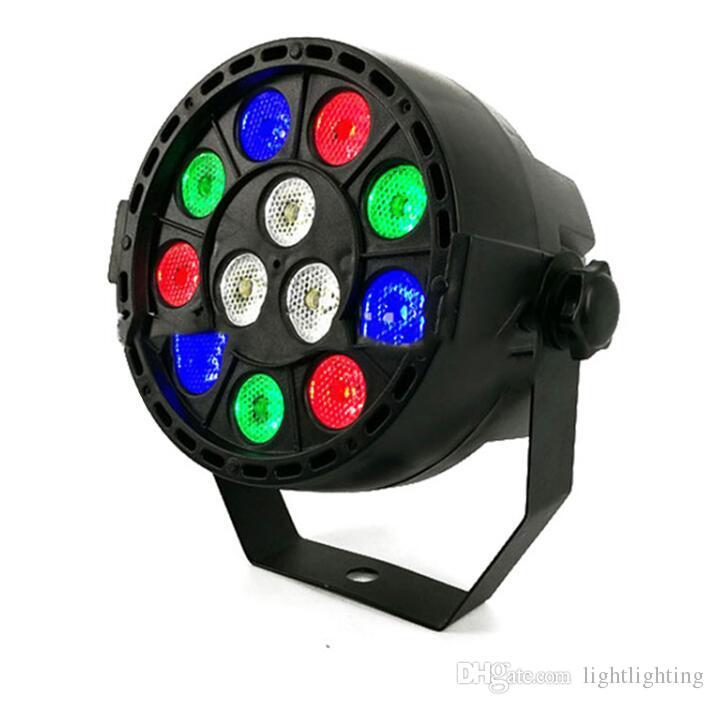 LED Par 12x3 W RGBW LED Stage Light Par Light con DMX512 per discoteca proiettore DJ macchina Decorazione festa SHEHDS Illuminazione scenica