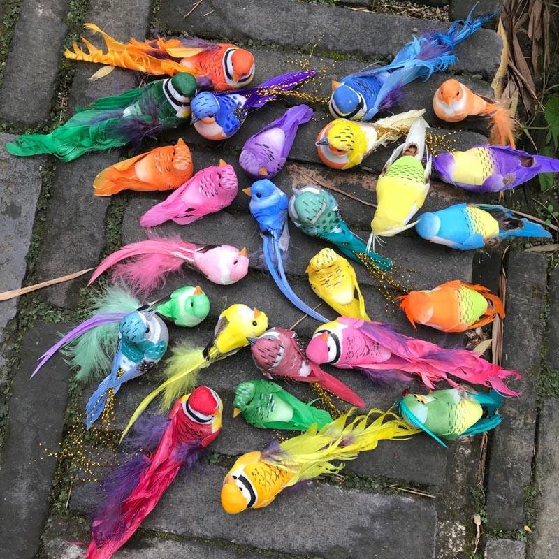 Various Styles Decorative Foam Feathers Birds Artificial Craft Bird For Bride Party,Birthday Decorations Kids Wedding Decoration
