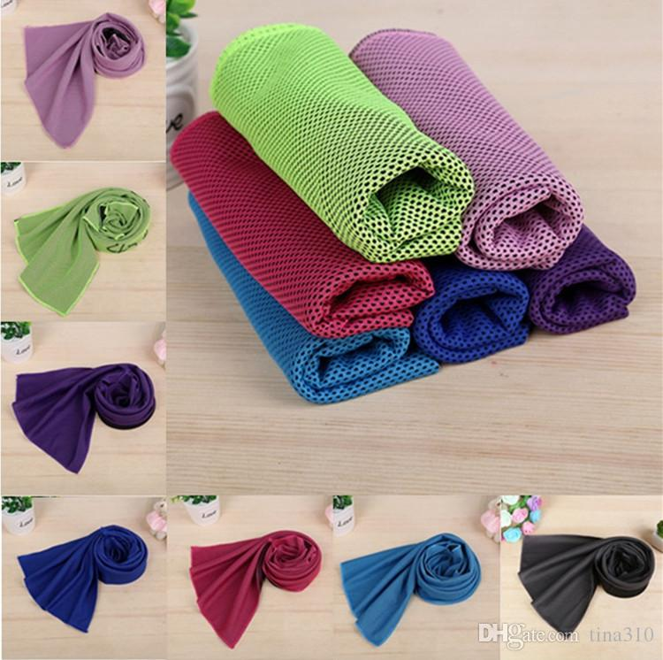 Neue Farbe Magie Kalttuch Übung Fitness Sweat Sommer Eistuch Outdoor Sports Eis Cool Tuch Hypothermie 90x35cm Kühltuch T1i303