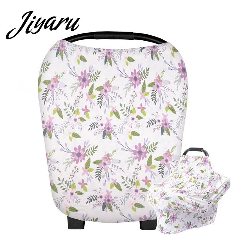 Multifunction Nursing Covers Scarf Cotton Baby Car Seat Covers Mum Breastfeeding Scarf for Babies Multi-Use High Chair