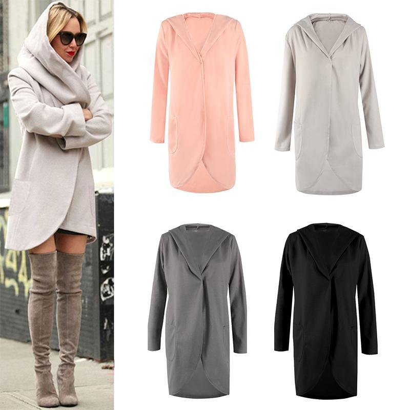Manteau à capuche à manches longues pour femmes en vrac New Casual Woolen Jacket S18101203