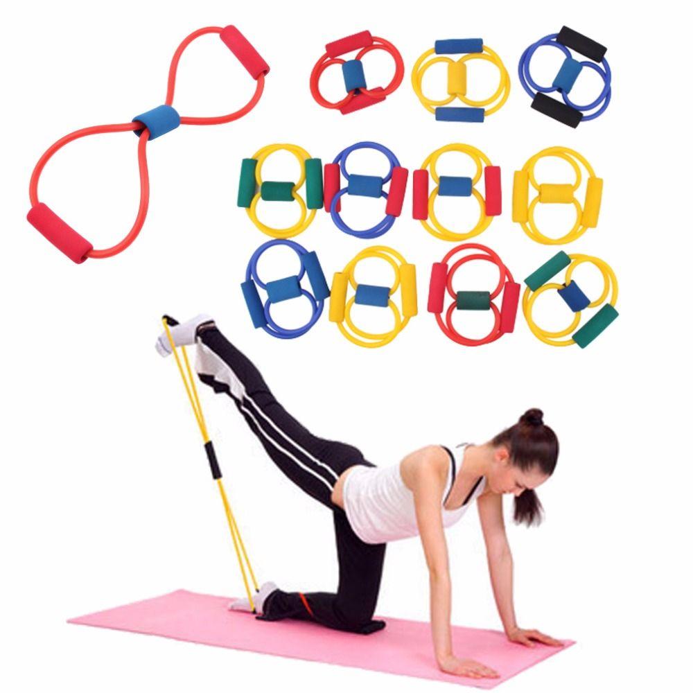 2 Pc Bandas de Resistência elastico para exercícios de yoga Pilates Abs Exercício Esticar equipamentos de Fitness Tubo Faixas de Treino