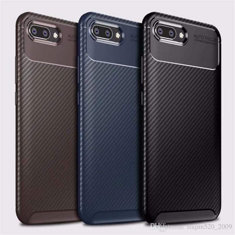 Ультратонкий чехол для телефона с защитой от ударов Для Huawei P10 P20 Pro Mate 10 20 Lite Honor 10 8x Max Play Чехол из углеродного волокна Мягкий силиконовый чехол ТПУ