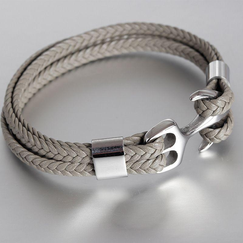 Gift for him Sterling Silver bracelet Boat anchor Bracelet Punk bracelet