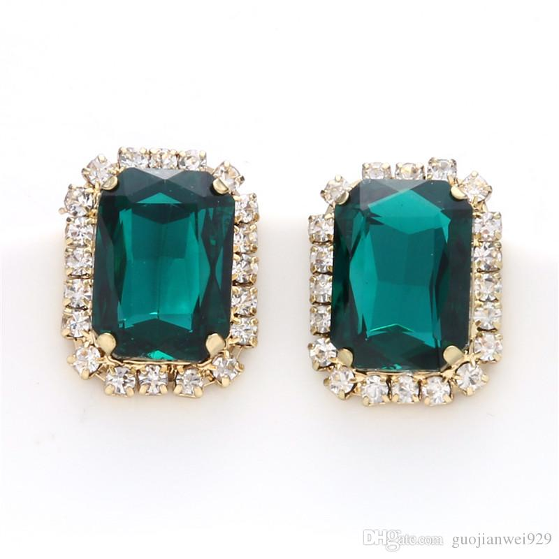 Stud Earrings Geometric Cube Square Earrings rose gold hypoallergenic earring For Women Girl