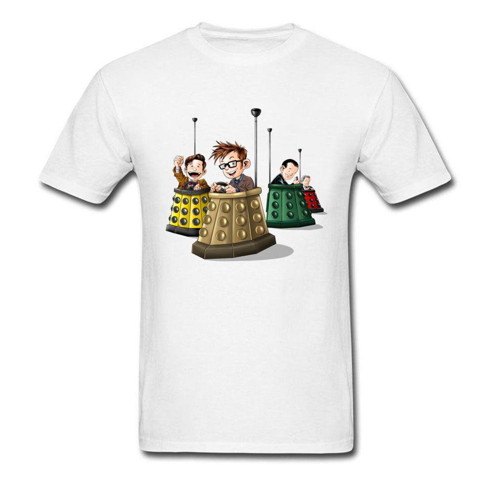 Bump The Doctors T-shirt Dos Homens Dr Who T Shirt TV T Camisas Engraçadas Roupas de Verão 100% Algodão Tshirt 3D Dos Desenhos Animados Top Tees