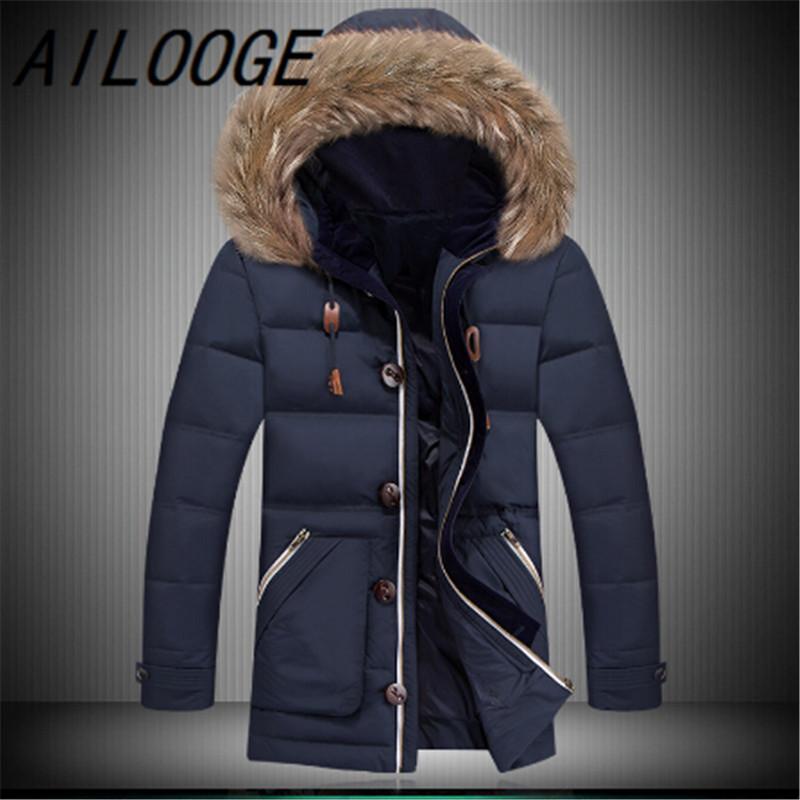 d94054f4a 2019 Maxi Winter Jacket Men Coat Goose Down Jacket Plus Size Mens ...