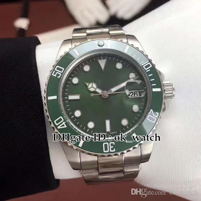 High quality 40mm Green dial Ceramic Bezel 116610LV 116610 Automatic Men's Watch Asian 2813 Movement Gents dress watches steel hand