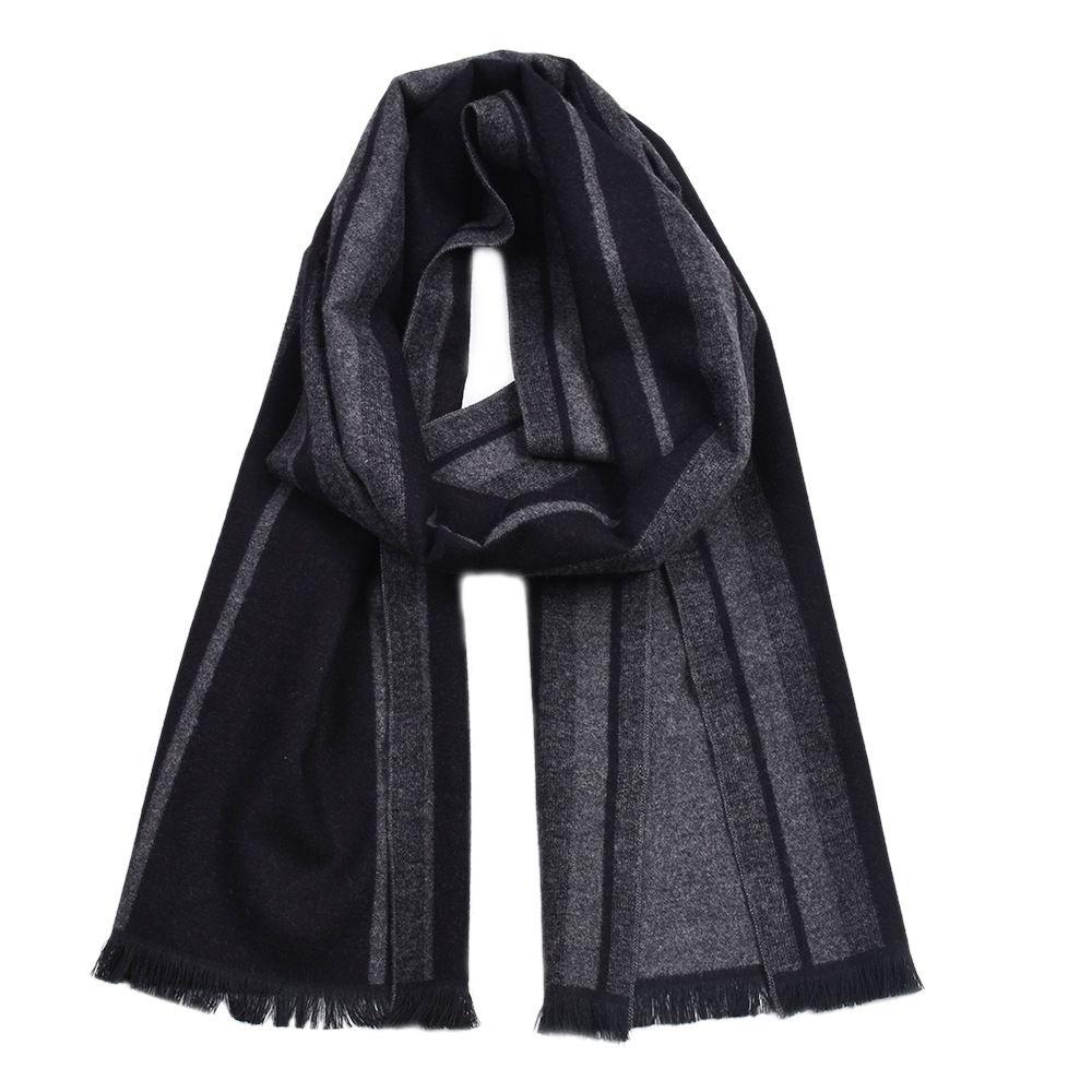 Guttavalli Fashion Men British StyleDouble Sides Woven Long Warm Shawl Winter Geometric Cotton Scarves Male Chevron Stripe Scarf