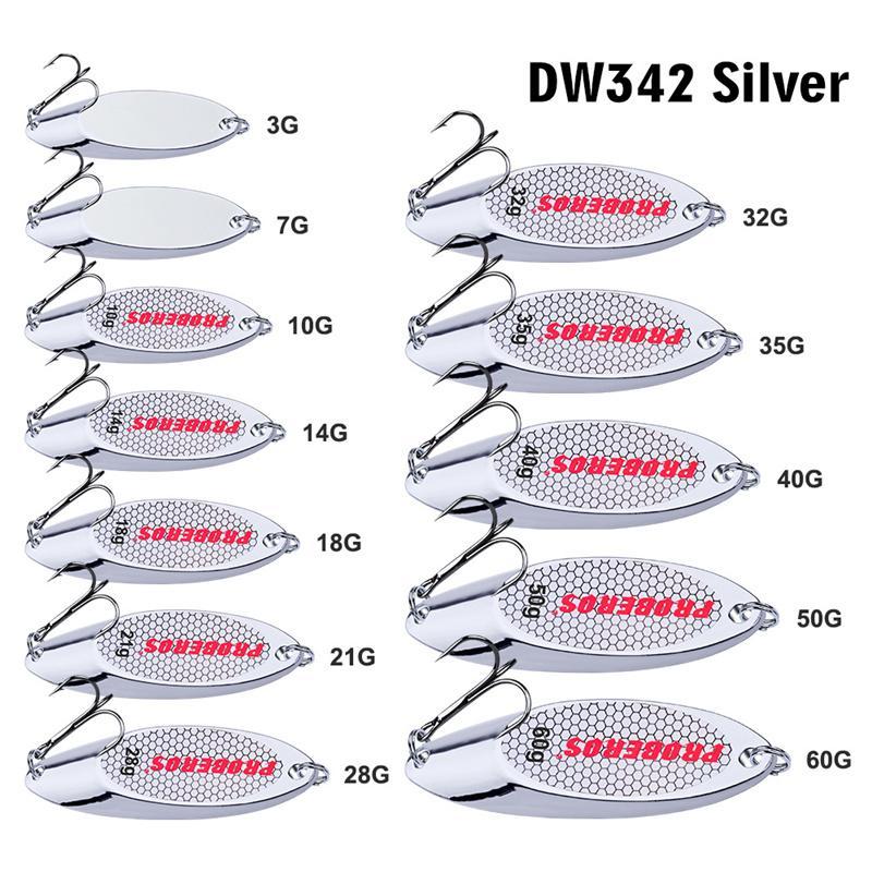 Новый серебряный цвет сплава джиги рыболовные приманки крюк 3-60g металлические железные ложки литья лазерная рыбалка приманки