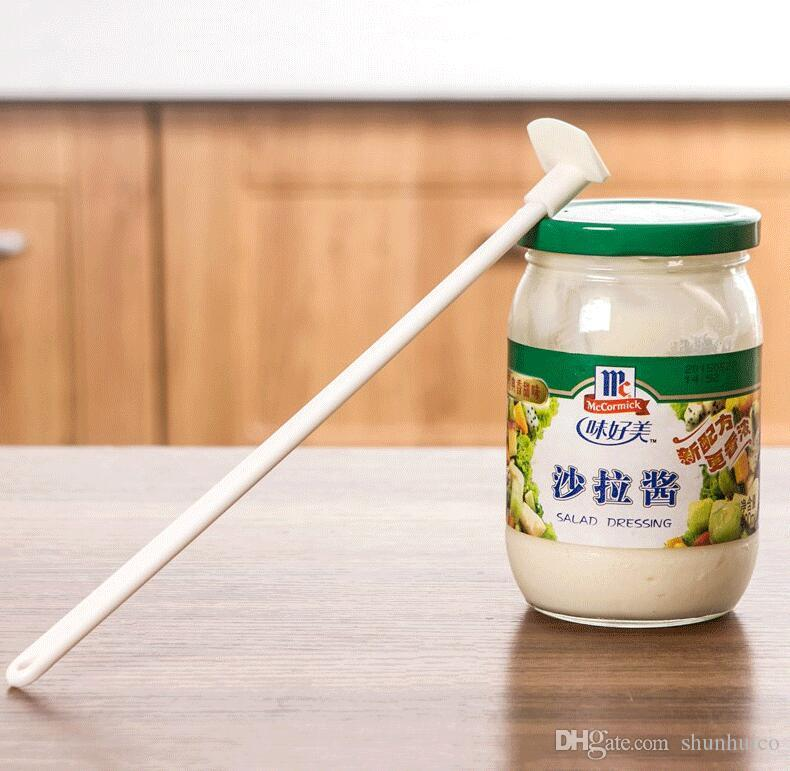 Pastry Long Bottle Scraper for Jam Sauce Ketchup Silicone Batter Spatula Tool.\
