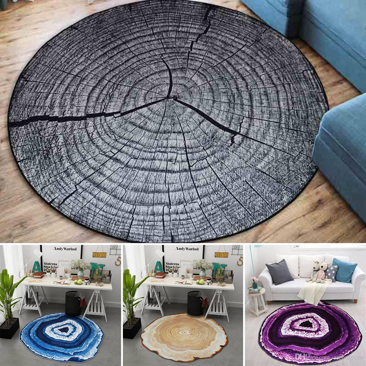 Cool 3D Growth Ring Pattern Carpet For