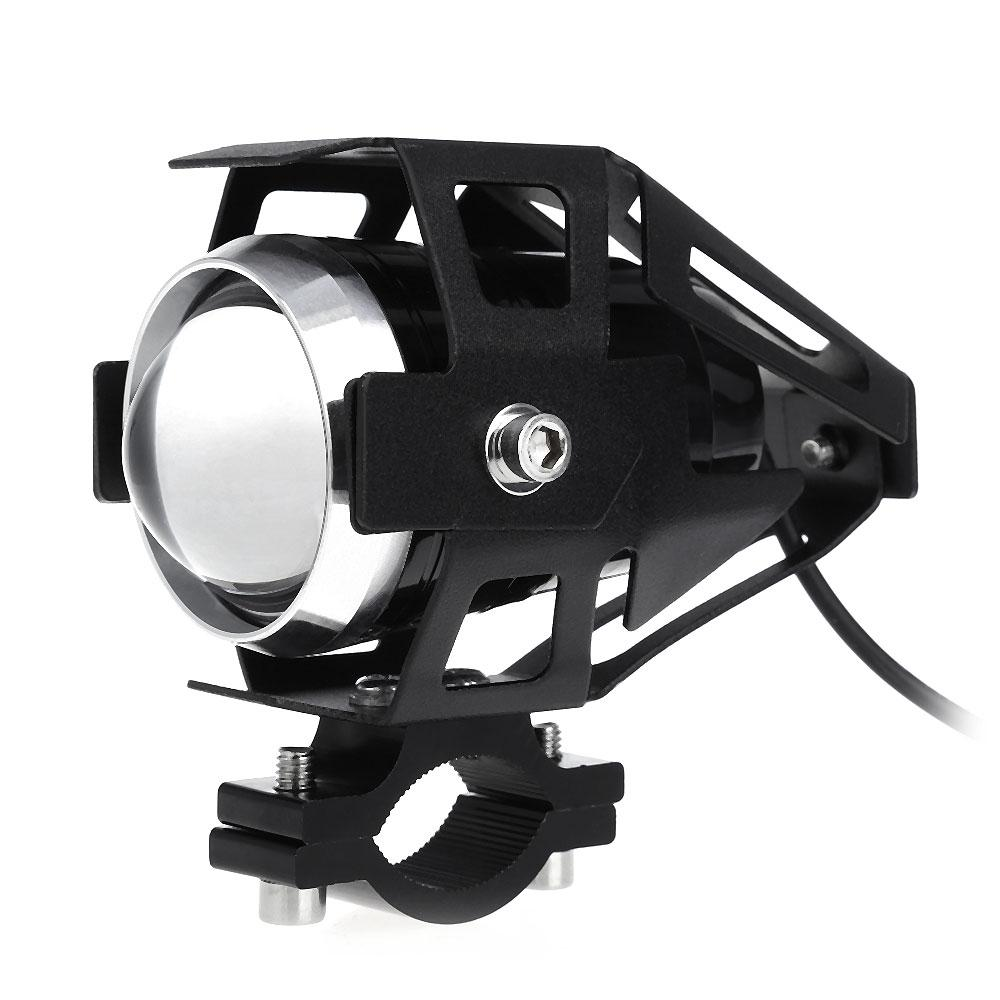 Motorcycle 3000LM 125W Upper Low Motorcycle Headlight LED Fog Spot Light Soft Strobe Beam Lights Motocross DRL Head Light Transform Spotligh