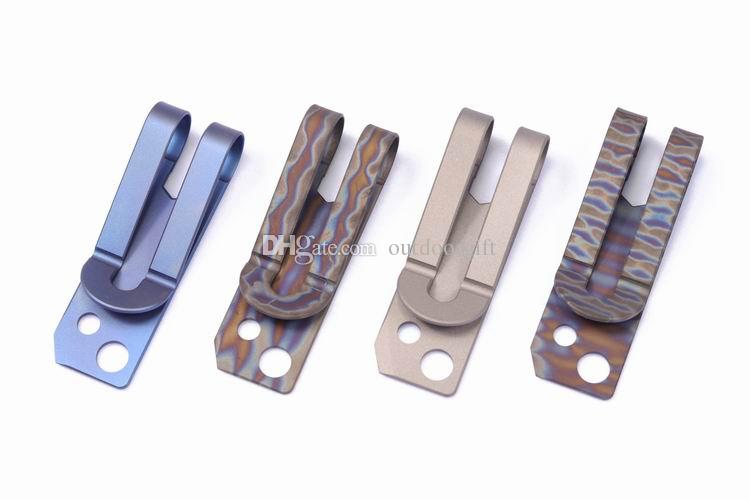 MG (Metal Growl) Titanyum Alaşım (TC4) Ti Ince Nakit Para Klip Kredi Kartı Tutucu Altıgen anahtarı