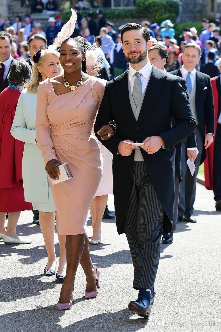 Prosty Afryki Prince Guest Party Prom Dresses Z Długim Rękawem Ruffles Długość Herbaty Abendkleid Dostosowane Eleganckie Eleganckie Suknie Formalne 2018