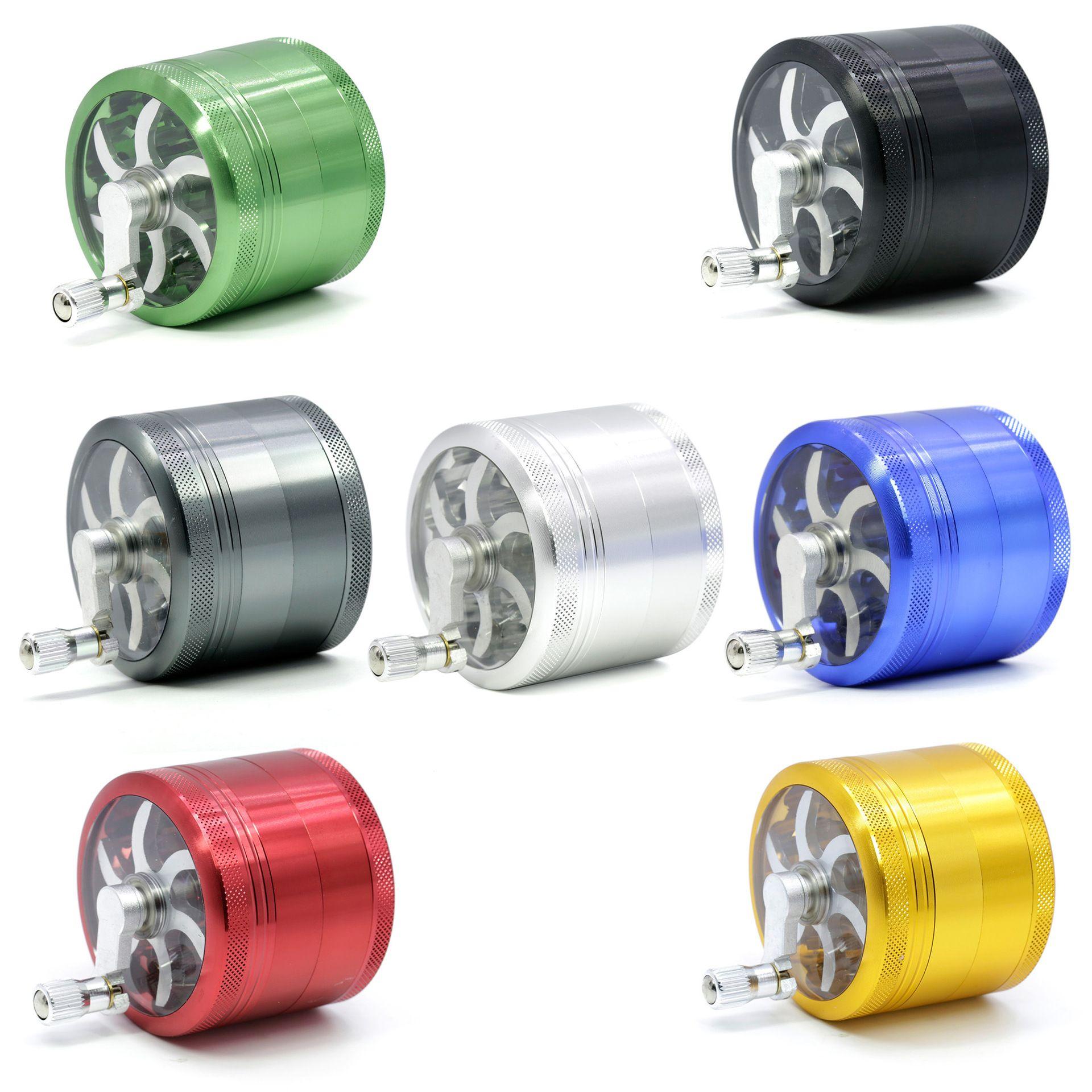 63mm herb grinder smoking grinders size CNC grinder 5 colors metal cnc teeth tobacco hand grinder 4 parts