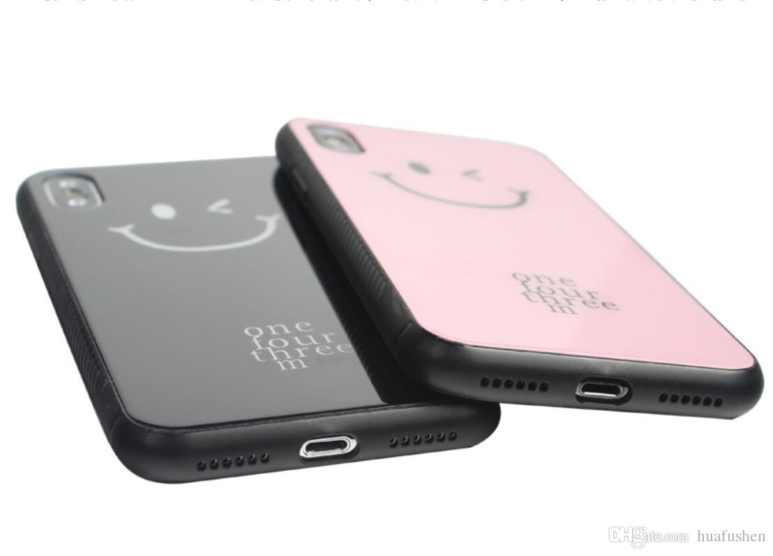 Fashion Phone Case For IphoneX,The Toughened Glass TPU+PC Material Coloured Drawing Anti-fall Cell Phone Case.