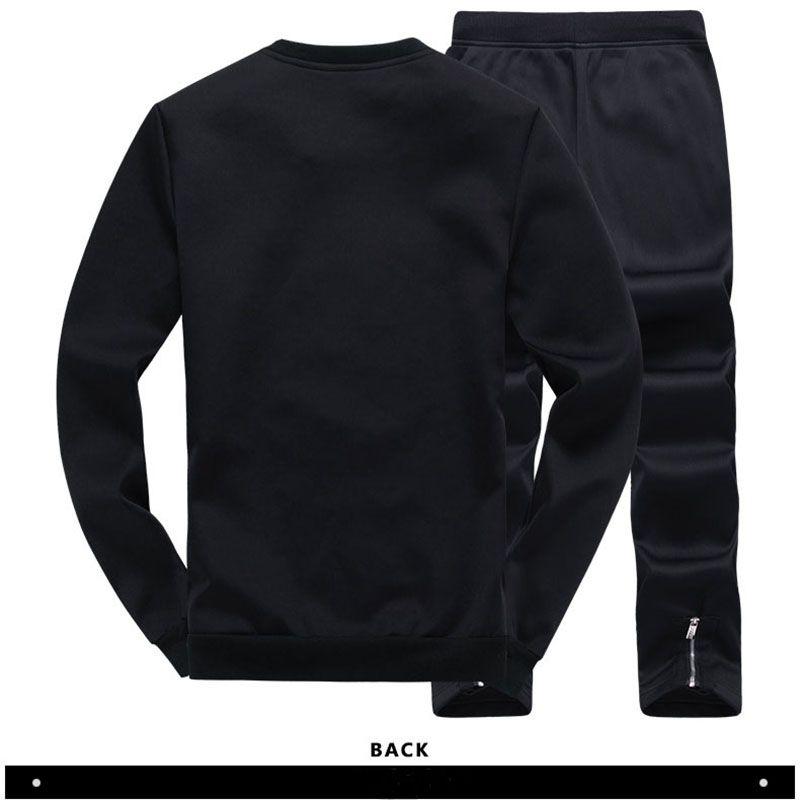 İnce Erkek Set Kazak Pantolon 2 adet Moda Jogging Yapan Eşofman Erkekler Rahat Takım Elbise Marka Giyim Hoodies Masculino Spor EM049