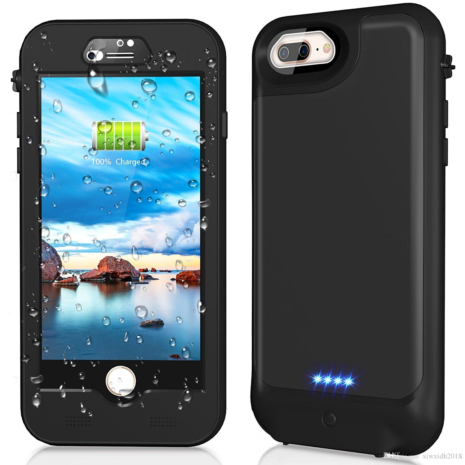 2021 For IPhone 8 Plus Wterproof Case Ultra Thin 3000mAh Power ...