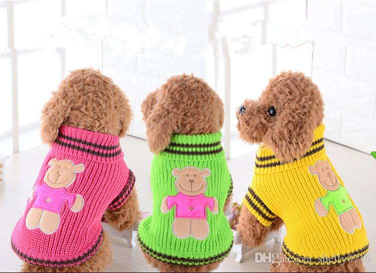 Wholesale Pet Warm Sweater Dog Navy Poodle Teddy Clothes Autumn and Winter Sweater Dog Clothing Supplies Free Shipping