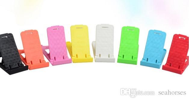 Cep Telefonu Standı Çok Fonksiyonlu Katlanabilir Telefon Düz Renk Plastik Tutucular Ucuz Fabrika Ücretsiz DHL 348