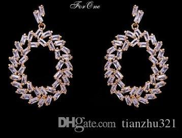 noble cristal de haute qualité diamant bas prix lady de (17,8) Earings