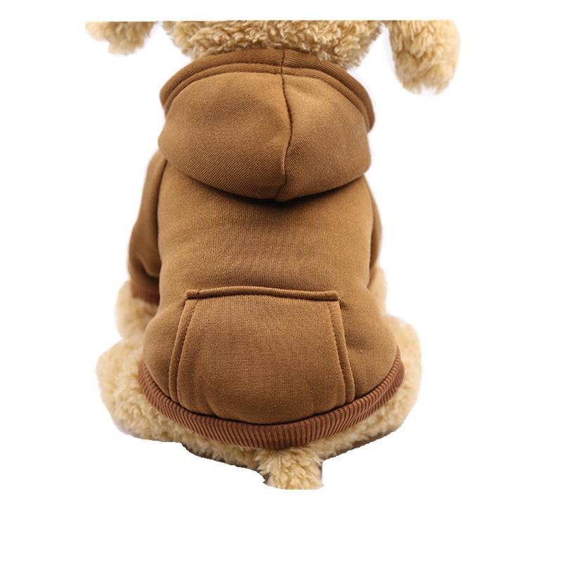 تولد كلب صغير الملابس الصوف الملابس الجديدة الشتاء الذهبي المسترد جرو الملابس تيدي تشيهواهوا اللباس بالجملة في المبيعات