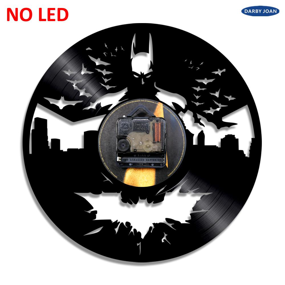 Batman Arkham Chevalier Noir Vinyle Noir Horloge murale Collection Cadeau Decor