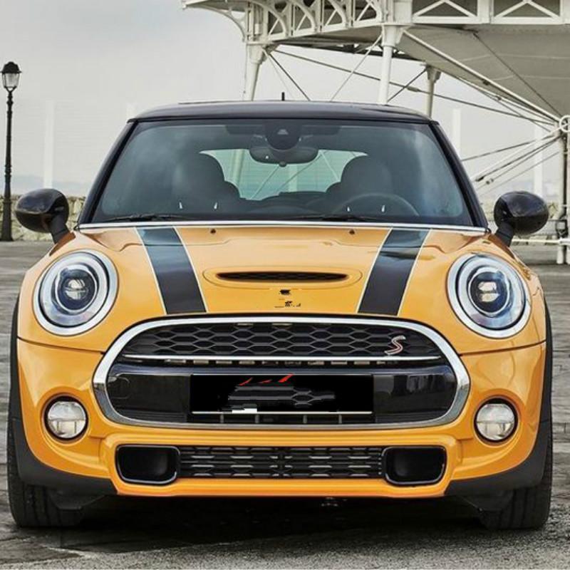 toptan Hood Stripes Araç Plakası Ve MINI Cooper S Countryman Clubman paceman R56 R60 R61 F54 F55 F56 Aksesuarlar için Çıkartmaları Car-stil