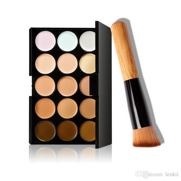 Sanat lalic Kapatıcı Paleti 15 Renk Ile Fırça Kapatıcı Yüz Yüz Kremi Bakım Kamuflaj Makyaj tabanı Paletleri Kozmetik