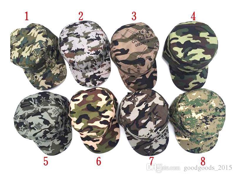8-color hot men and women safe fashion camouflage baseball cap sunglasses ladies men's uniforms cap hat M005