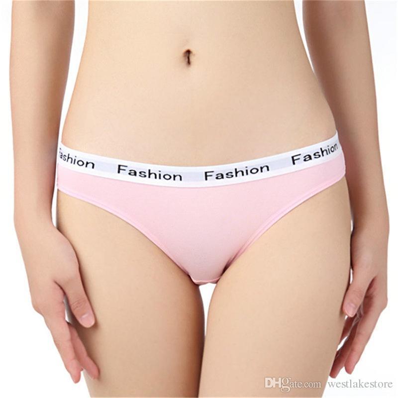 Culottes sexy femmes sous-vêtements culottes en coton rose sous-vêtements féminins dame