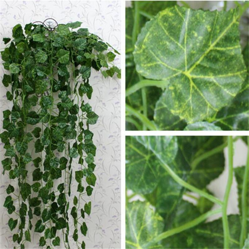 2.5m Artificial Ivy Leaf Garland Plants Vine Fake Foliage Flowers Home Decor Plastic Artificial Flower Rattan Evergreen Cirrus