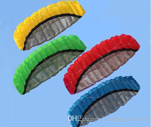 Outdoor Sports 2.5m Power Kite Dual Line Stunt Parafoil Kite with Handle 30m Line Top Quality Sports Beach Kite Easy to Fly