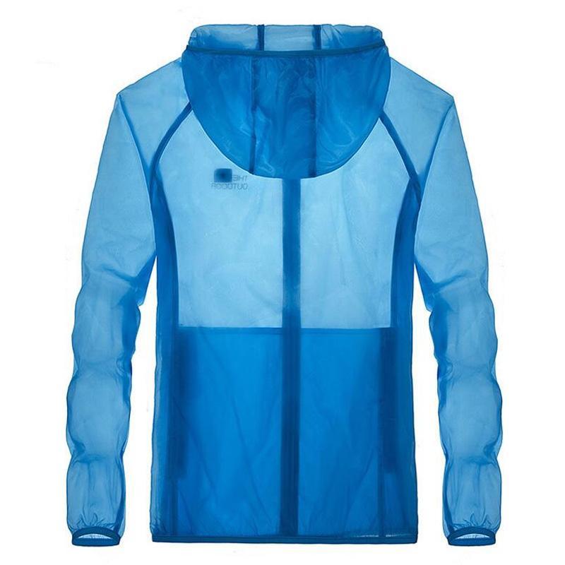 мужская куртка весна лето мужчины анти-ультрафиолетовый непромокаемый плащ быстросохнущий прозрачный предотвратить греть одежду